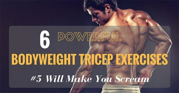 Bodyweight Tricep Exercise